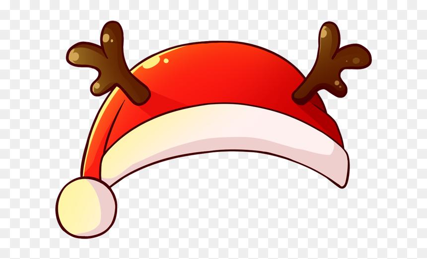 #christmas #reindeer #hat #crown #ears #filter #snap - Sticker De Gorro De Navidad, HD Png Download