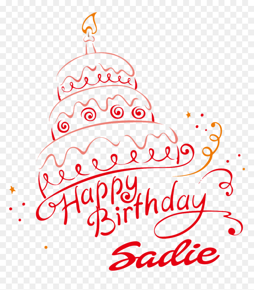 Sadie Happy Birthday Vector Cake Name Png - Birthday Cake Image With Name Stella, Transparent Png