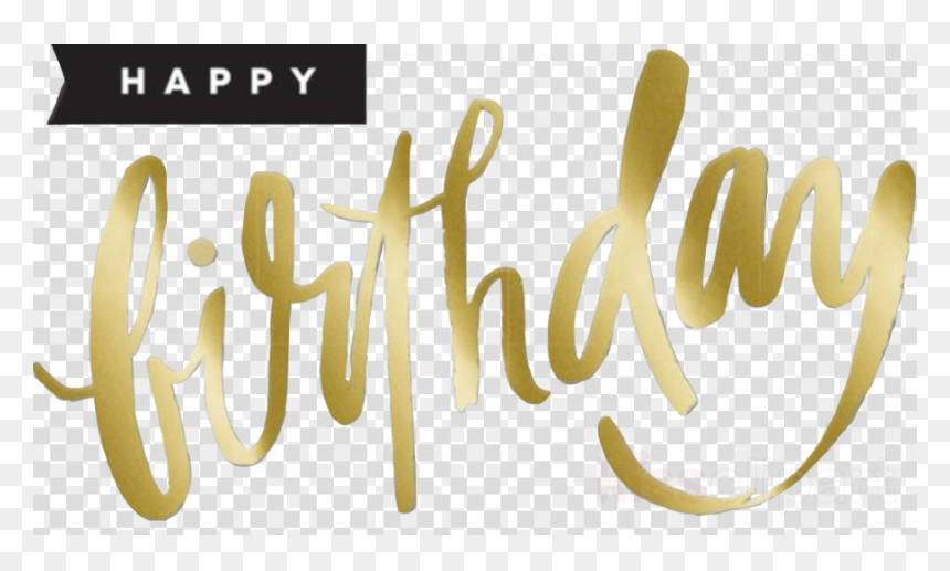 Happy Birthday Gold Clipart, HD Png Download