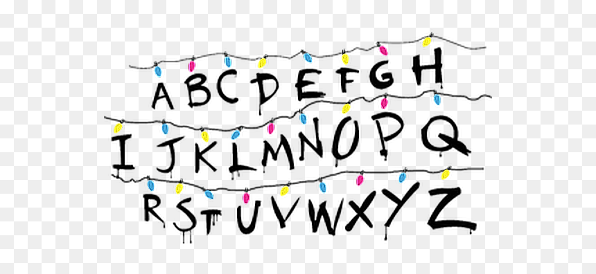 #strangerthings #netflix #abecedario #abecedarie #letras - Letras De Stranger Things Abecedario, HD Png Download