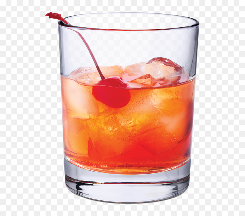 Manhattan Cocktail In Rocks Glass Hd Png Download 600x692 Png Dlf Pt