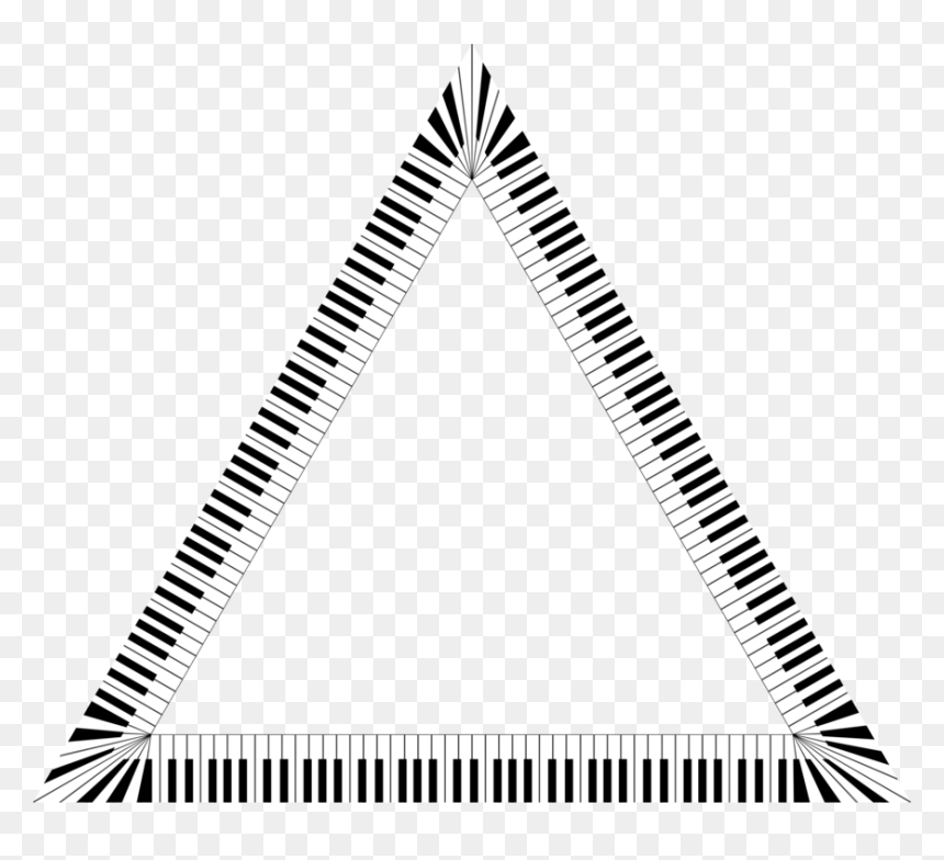 Piano Musical Keyboard Computer Icons Musical Note - Triangle Piano Keys, HD Png Download