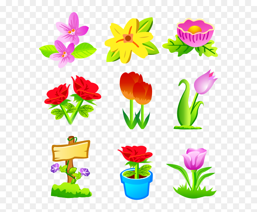 Flowers Icons Free Download, HD Png Download