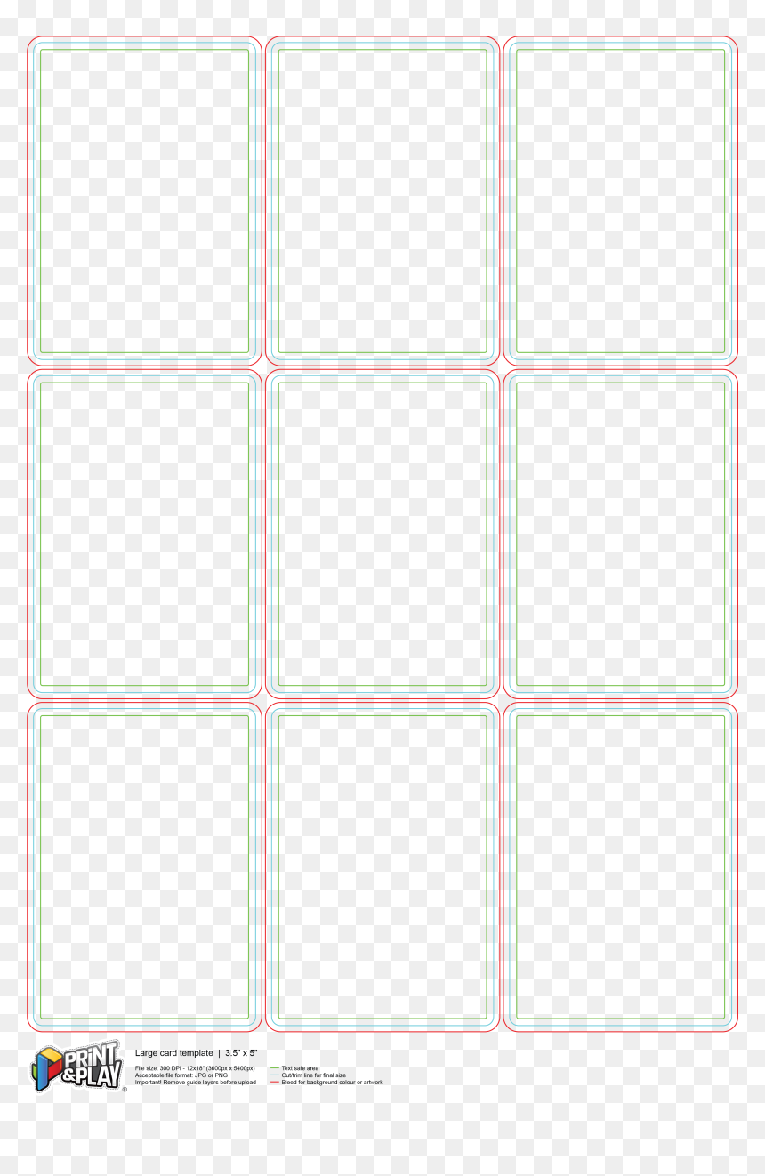 009 Playing Card Template Word 5x2052920920per20sheet - Pattern, HD Png Download