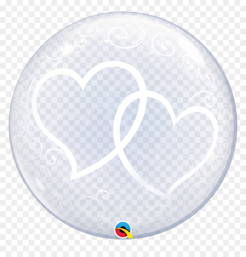 Deco Bubble Balloons Heart Entwined, HD Png Download