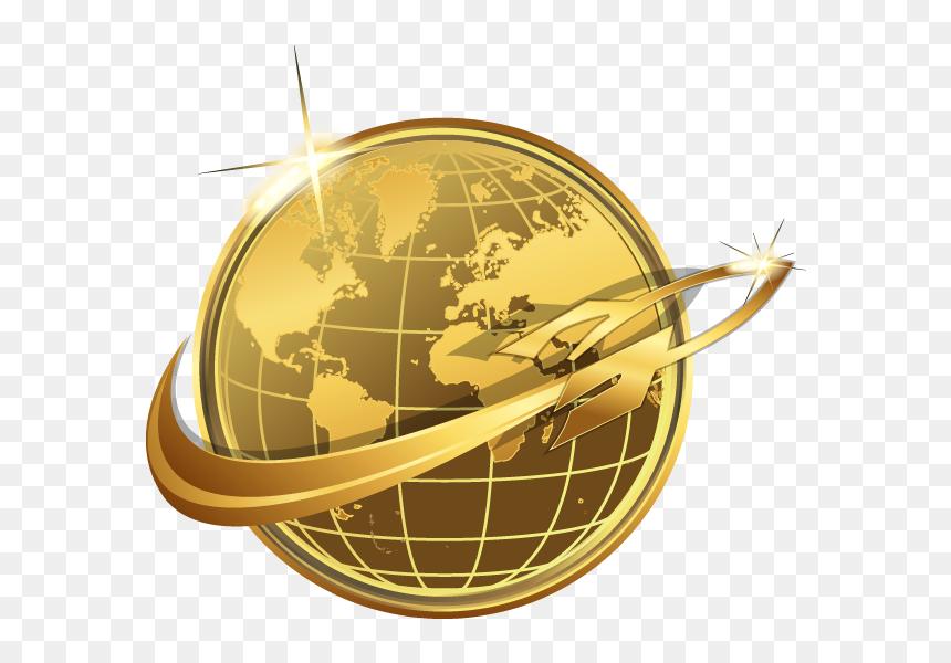 Gold Globe Logo Png, Transparent Png