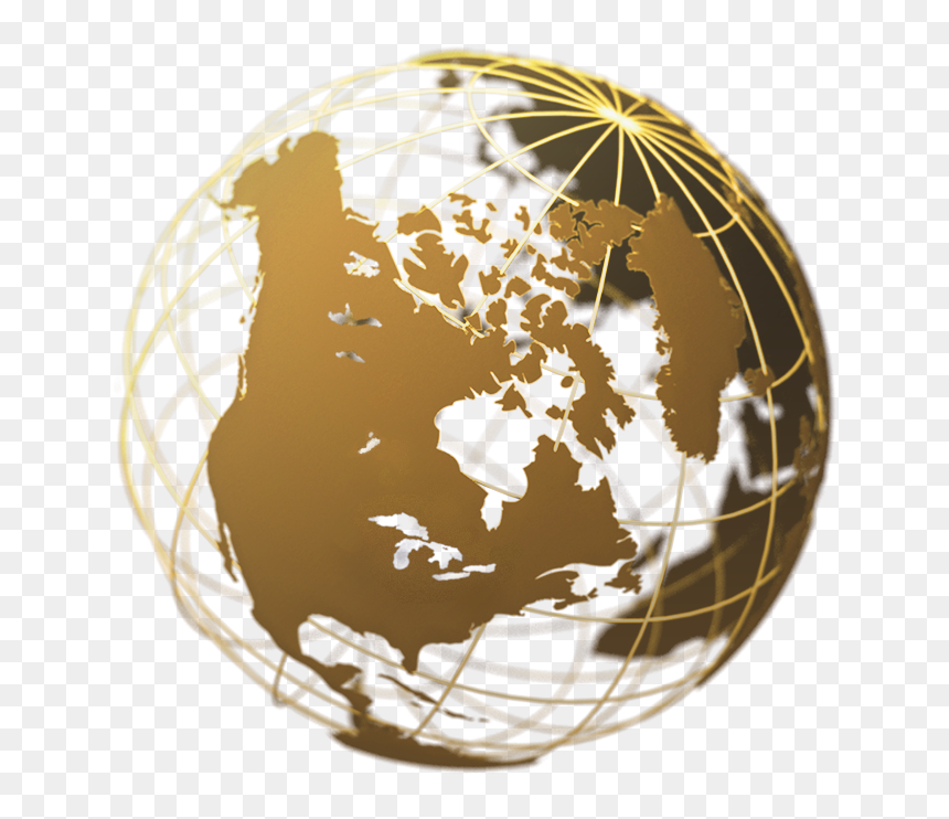 Earth Globe Png Gold, Transparent Png