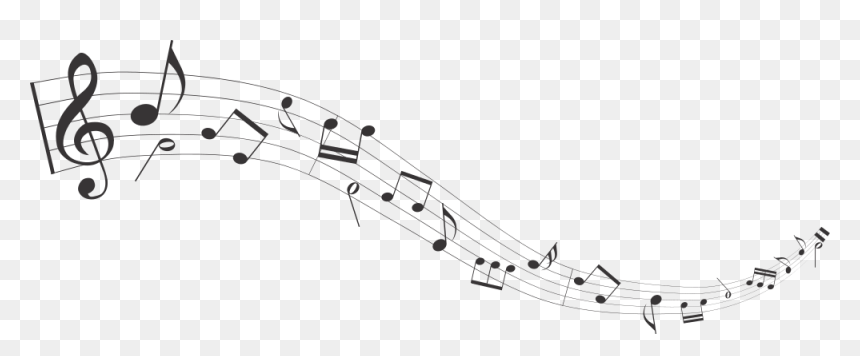 Flowing Notes - Transparent Background Music Staff Png, Png Download