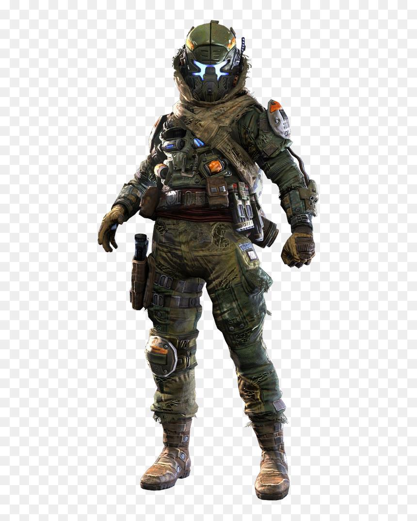 Titanfall 2 Militia Pilot, HD Png Download - 460x1080 PNG ...