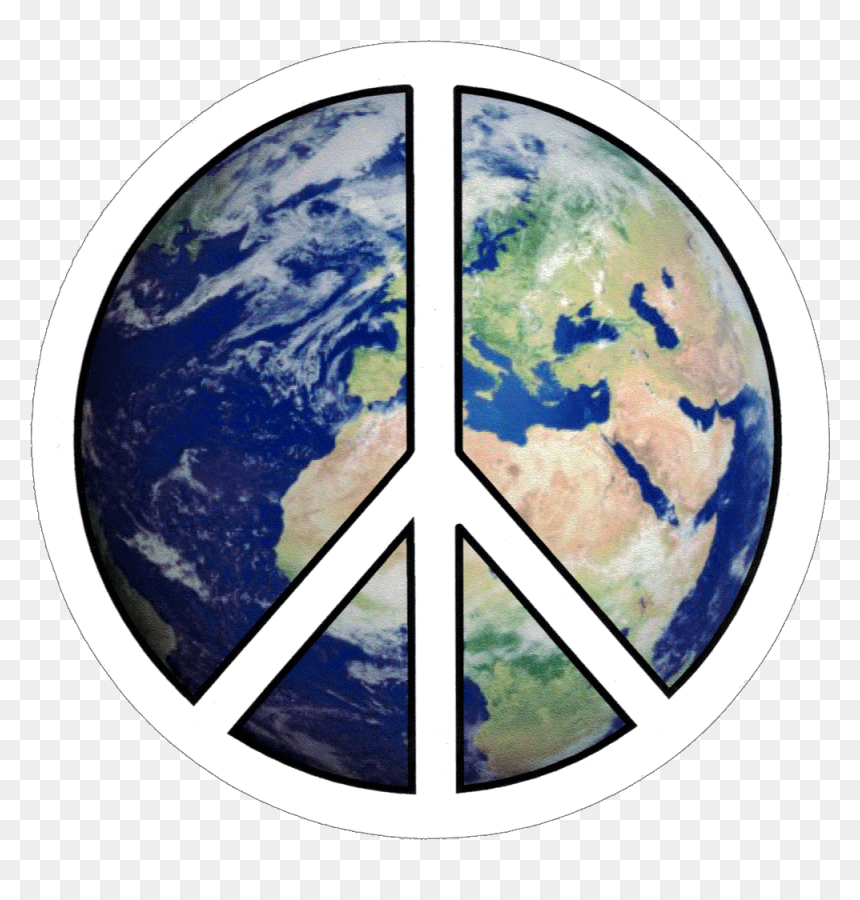 Peace Sign On Earth, HD Png Download