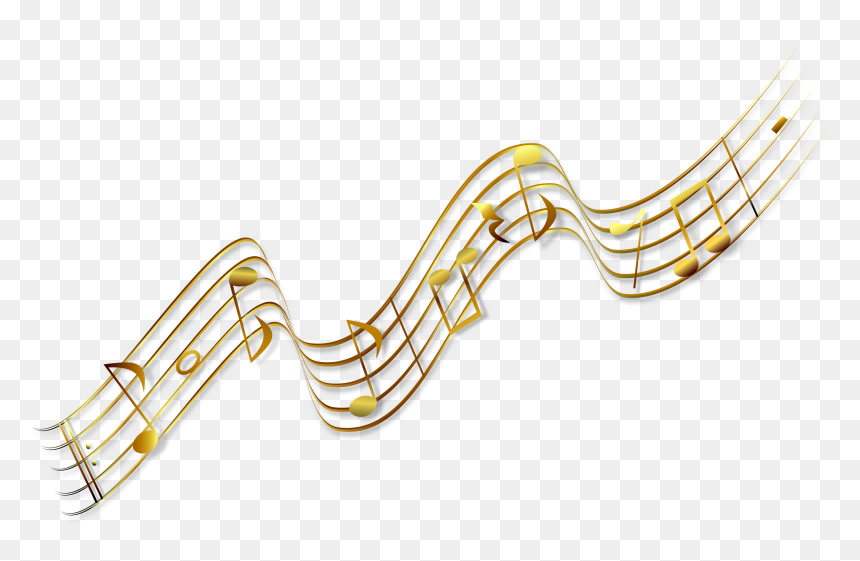 Transparent Free Clipart Music Notes - Gold Music Notes Clipart, HD Png Download