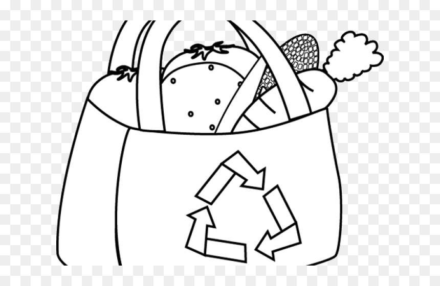 Transparent Shopping Clip Art - Shopping Bag Clip Art Black And White, HD Png Download