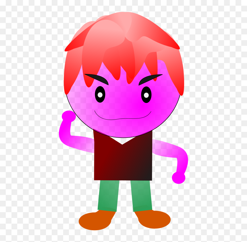 How To Set Use Game Purple Boy Icon Png , Png Download - Cartoon Walk Animation ไม่ เอา พื้น หลัง, Transparent Png