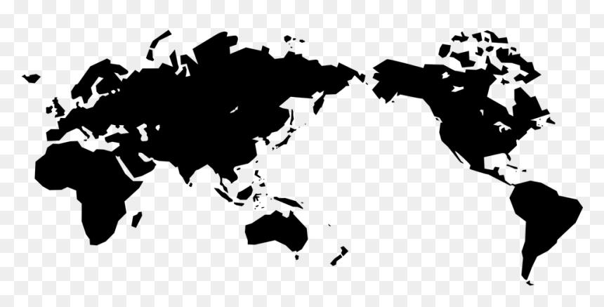 Japan World Map Black, HD Png Download