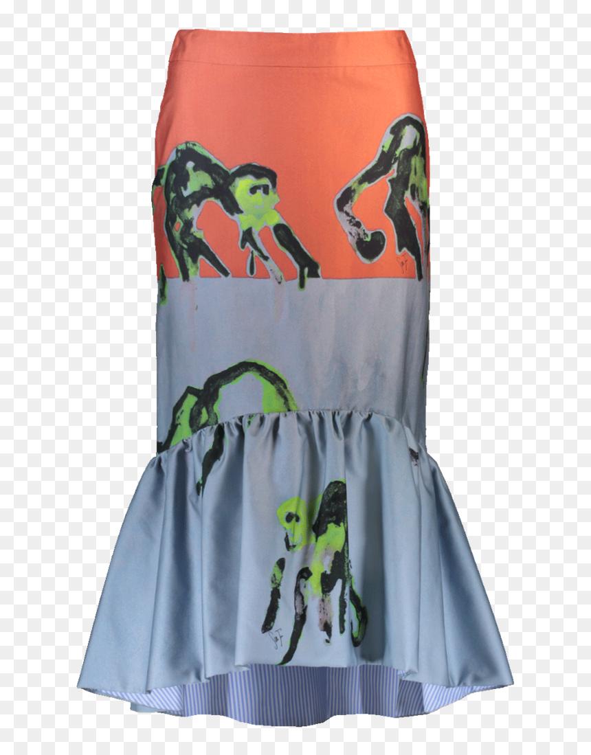Stella Jean Monkey Flare Skirt Skirts - Board Short, HD Png Download