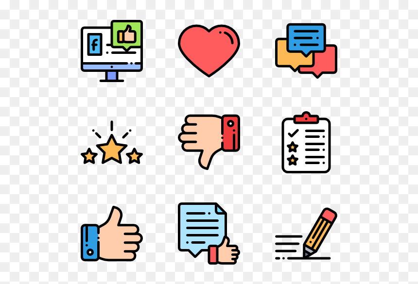 Like And Dislike Icon Png, Transparent Png