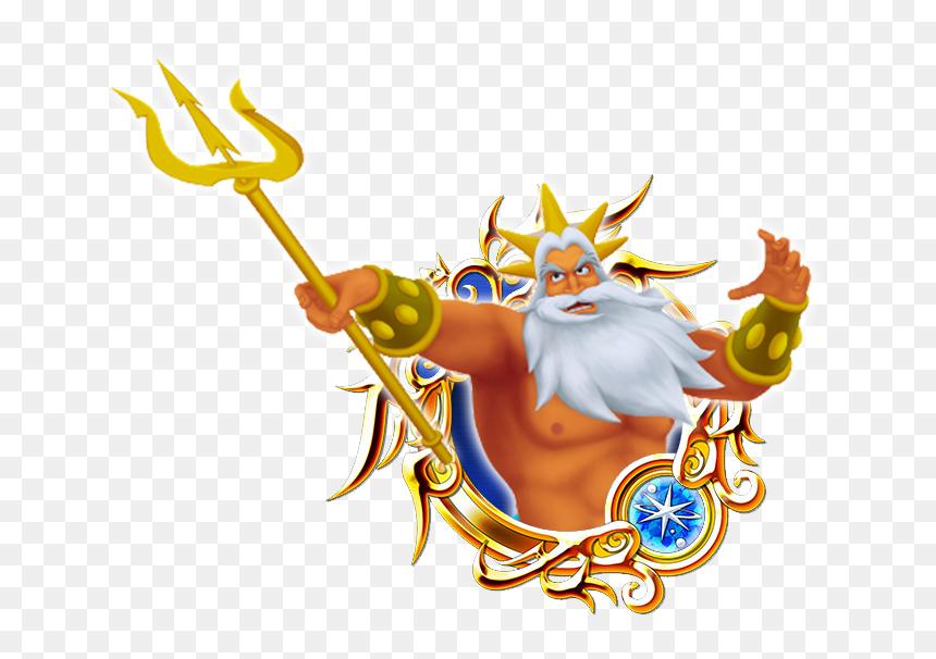 Custom Medals King Triton By Triples Art - Kingdom Hearts Sora Medal, HD Png Download