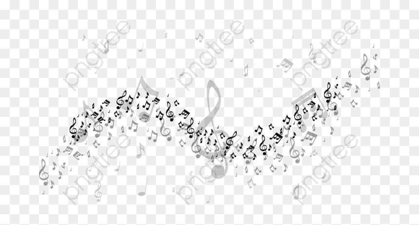 Floating Music Notes Png, Transparent Png