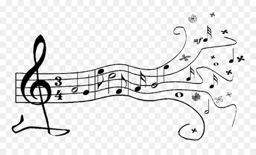 Music Note Png Image Transparent - Music Stencils, Png Download