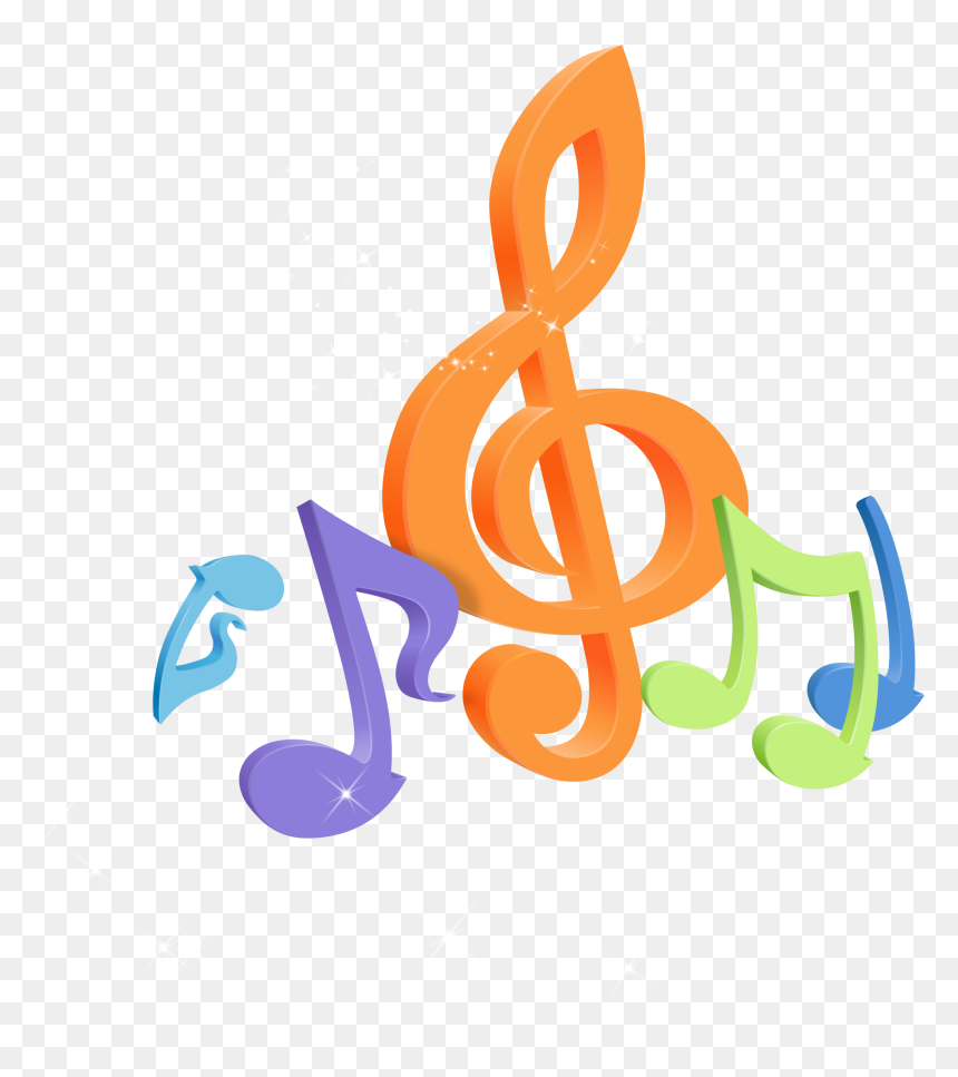 Graphic Arts Colourful Music Notes Musical Note Desktop - Music Notes Note Gif Transparent, HD Png Download