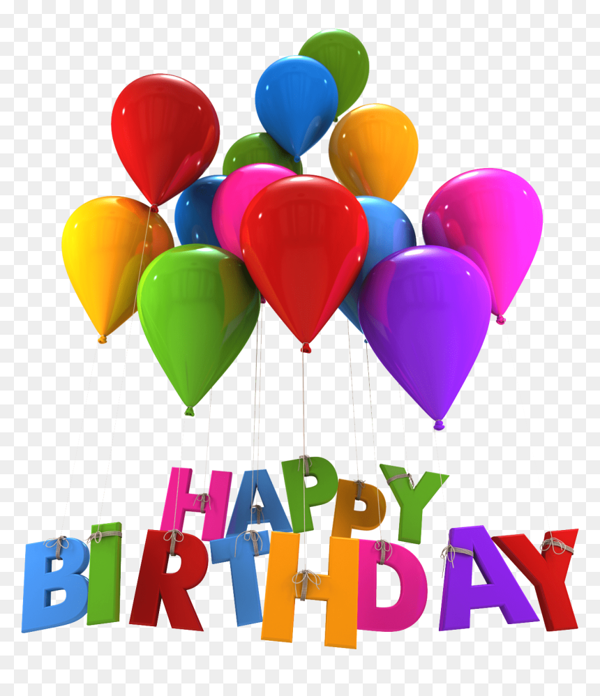 Happy Birthday Balloons Hanging Letters Clip Arts - Happy Birthday Day Png, Transparent Png