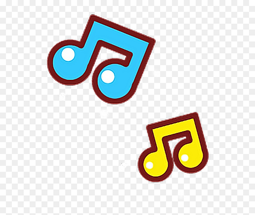 """Cute Music Notes Music Notes Yellow Blue G7cheese""""stime - Cute Music Notes Clipart, HD Png Download"""