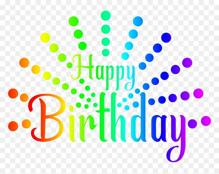 Colorful Clipart Happy Birthday - Happy Birthday Png Transparent Background, Png Download