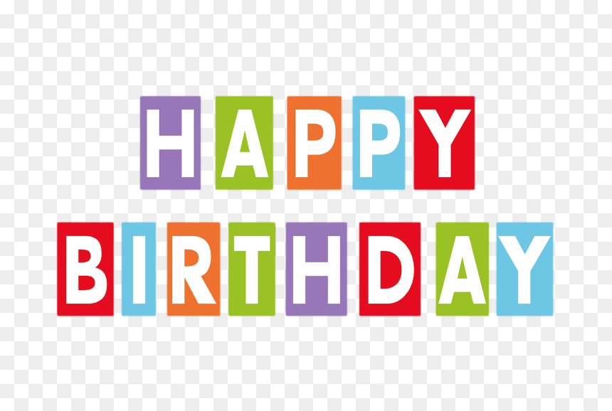 Happy Birthday Text Png, Birthday Text Png, Pngs, Png, - Happy Birthday Decoration Items Png, Transparent Png
