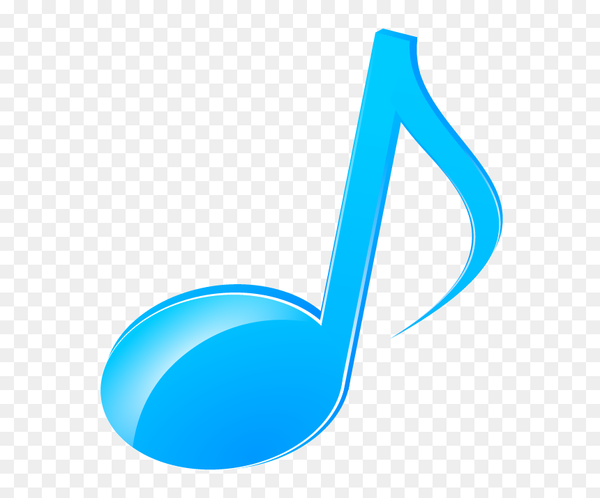 Music Note Icon By Volcksonia - Blue Music Note Png, Transparent Png