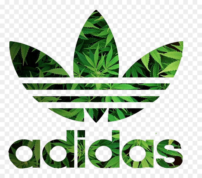 Adidas Weed Logos - Adidas T Shirt Roblox, HD Png Download