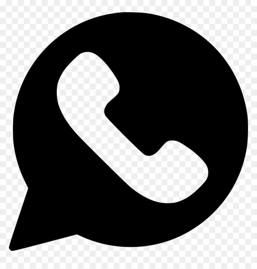 Thumb Image - Whatsapp Logo Vector Black, HD Png Download