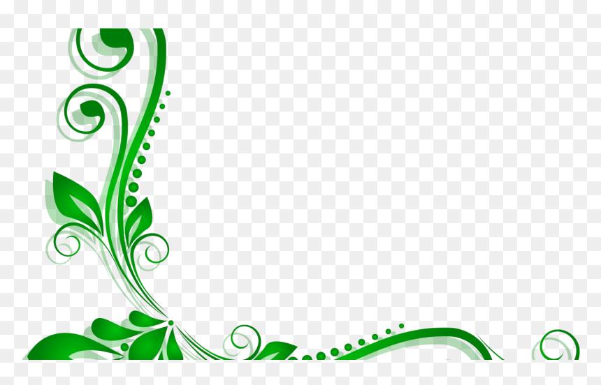 Vector Frame Png Transparent Images - Green Floral Border ... |Green Flower Border