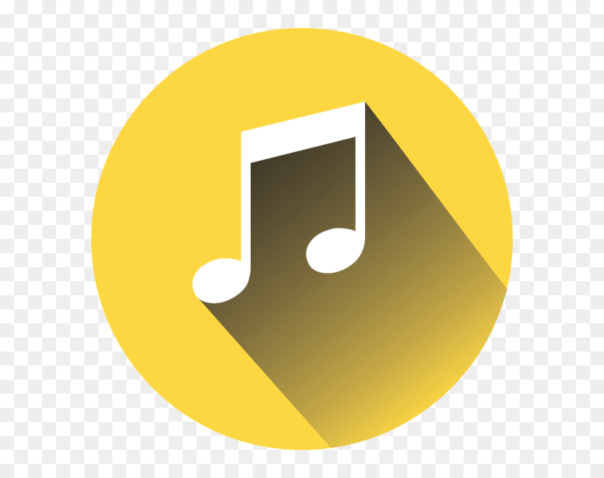 Yellow Music Note Transparent, HD Png Download