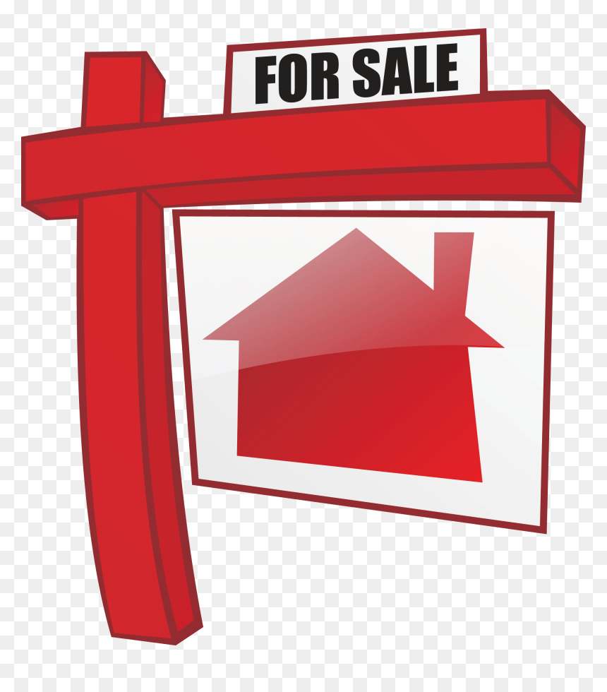 House For Sale Clipart Vector Free Sales Clipart Red - House For Sale Clip Art, HD Png Download