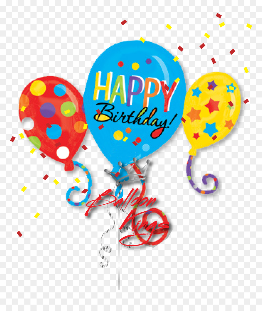 Transparent Birthday Balloons Images Clip Art - Happy Birthday Balloons Clipart, HD Png Download