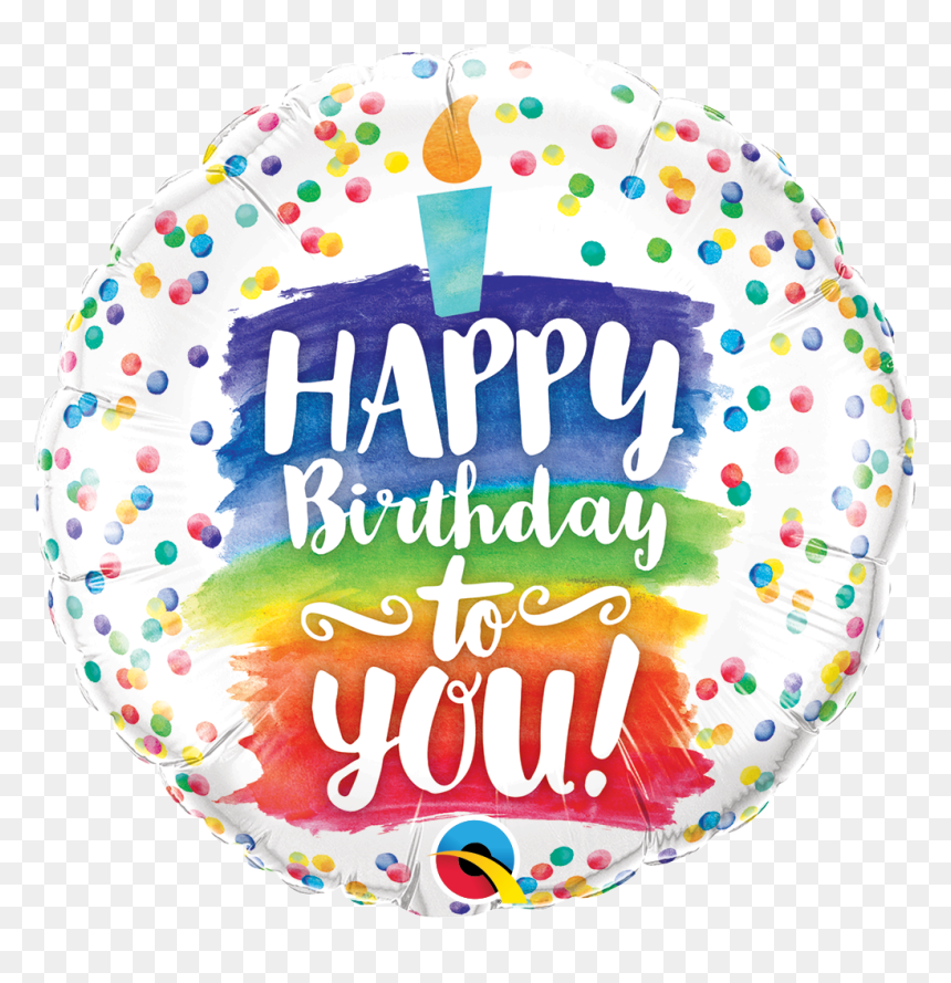 Happy Birthday Balloons And Cake, HD Png Download