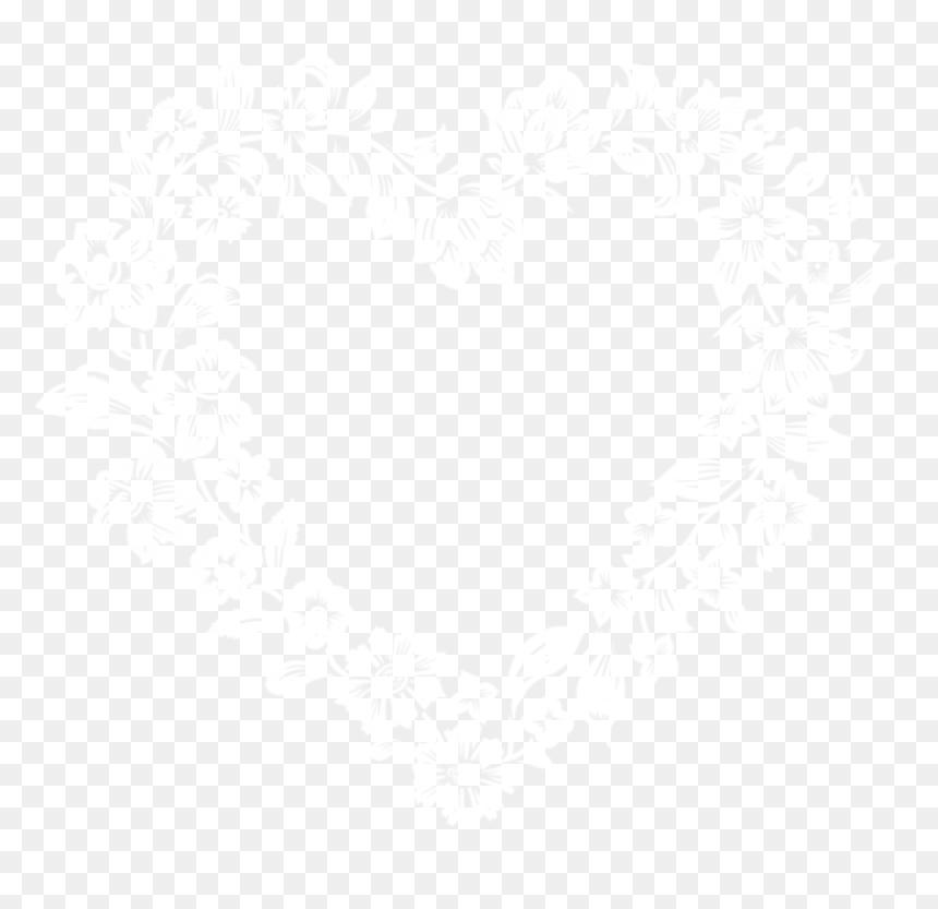 Transparent White Border Frame Png - White Floral Frame Png Transparent, Png Download