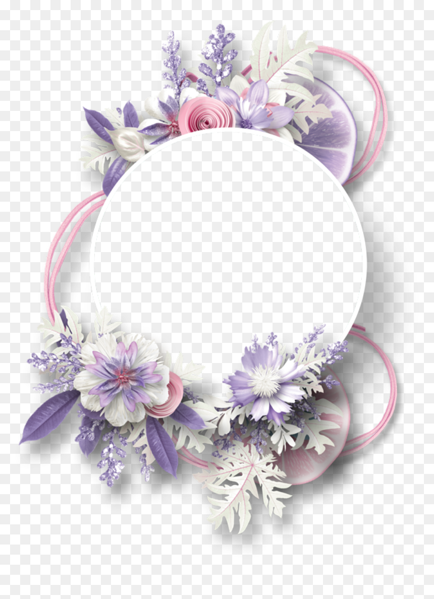 Floral Border, Borders And Frames, Borders Free, Flower - Flower Floral Purple Png, Transparent Png