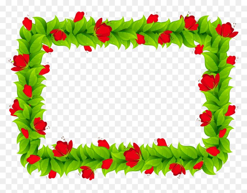Floral Border Png Image - Frame Colorful Border Design, Transparent Png