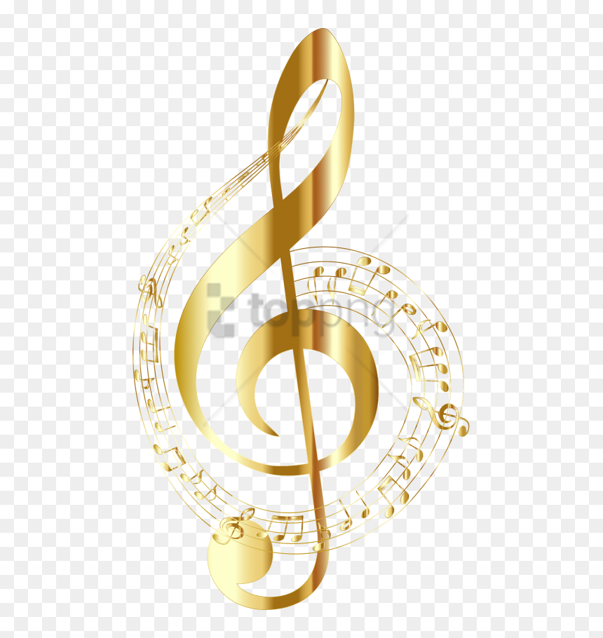 Free Png Gold Music Notes Png Png Image With Transparent - Gold Music Notes Transparent Background, Png Download