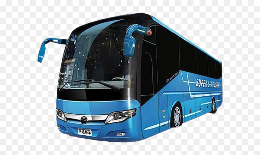 White Tourist Bus Png Free Image - Onibus Png, Transparent Png