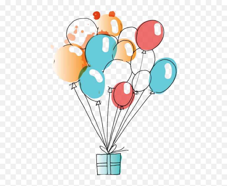 Balloons Watercolor Clipart Png Image Free Download - Birthday Balloon Watercolor Png, Transparent Png