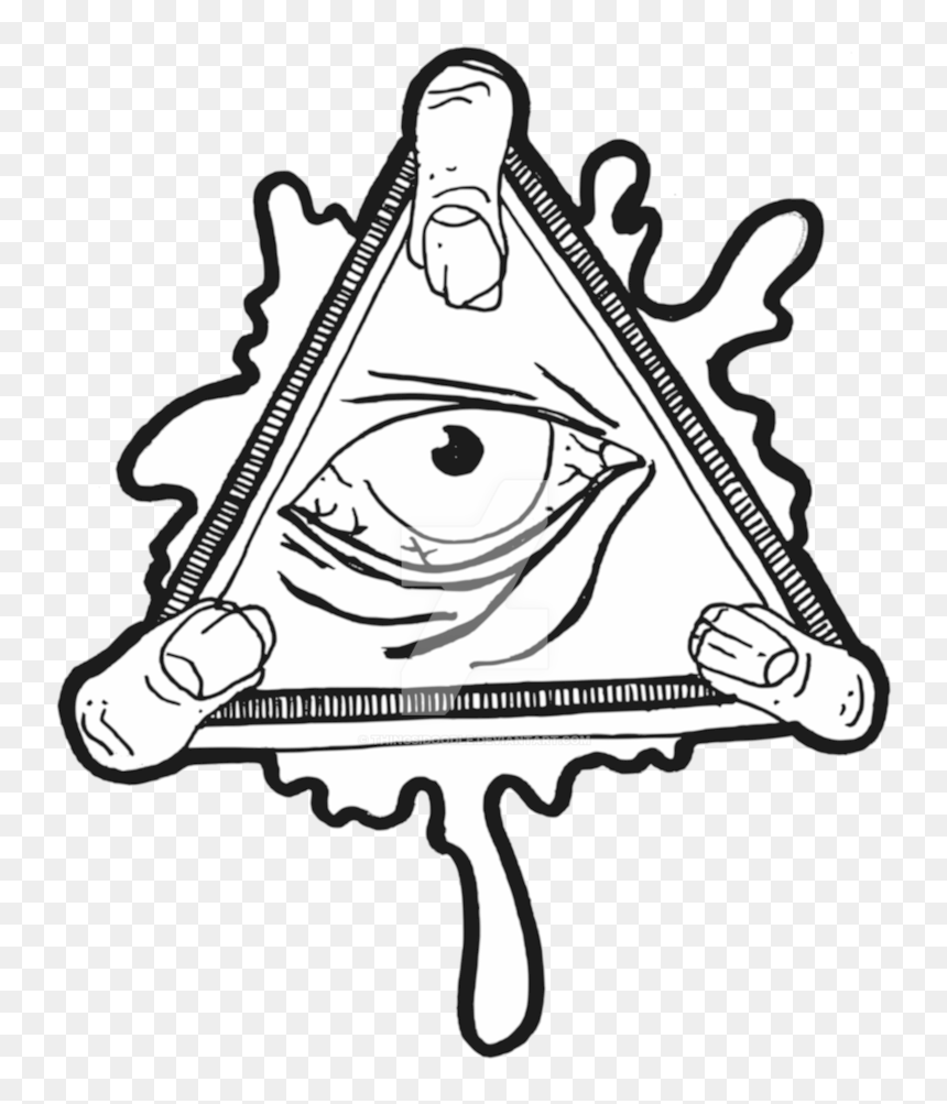 Eye Of Providence Illuminati Sticker Decal Clip Art - All Seeing Eye Transparent, HD Png Download