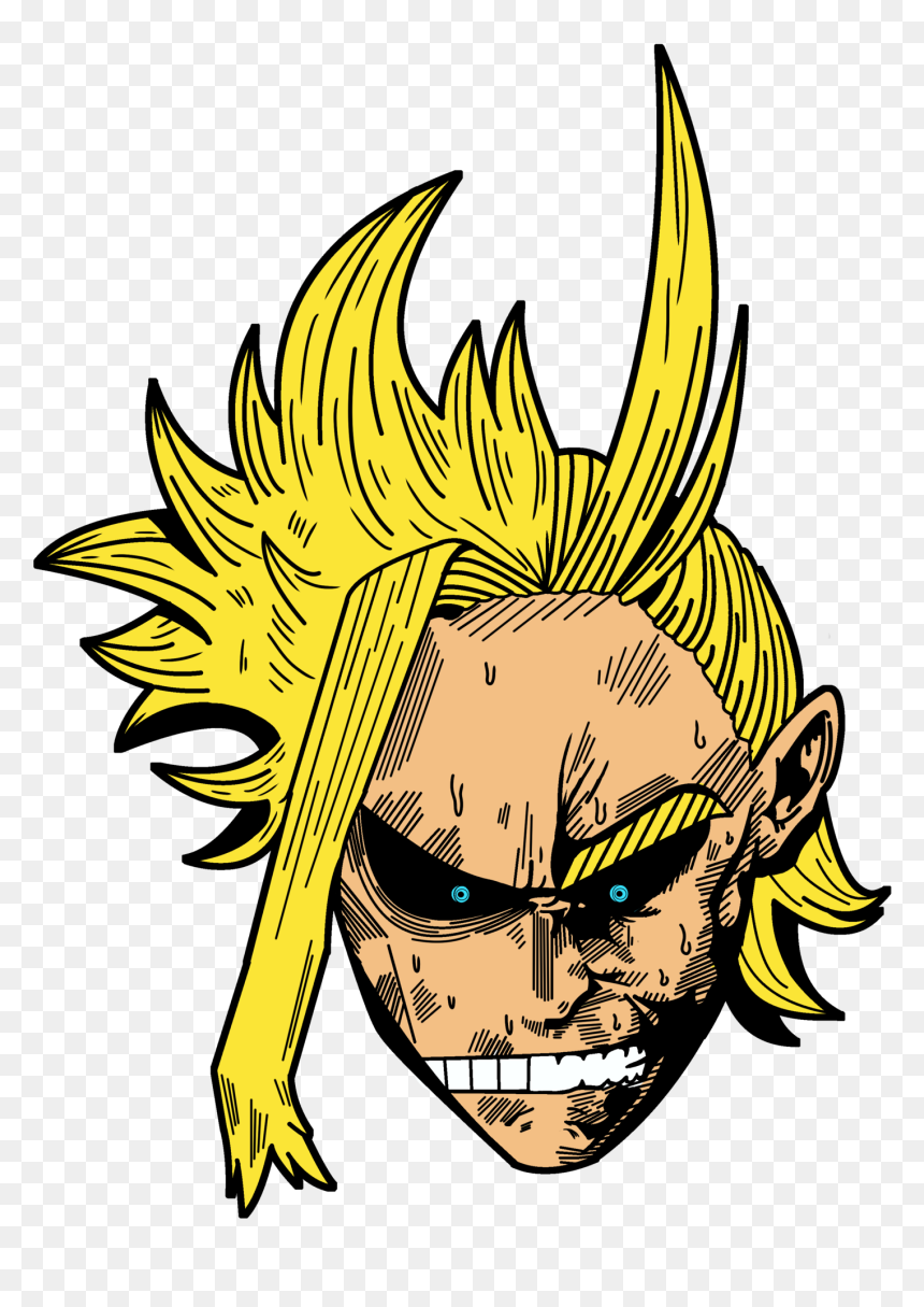 Toshinori/all Might Pin - All Might Png Face, Transparent Png