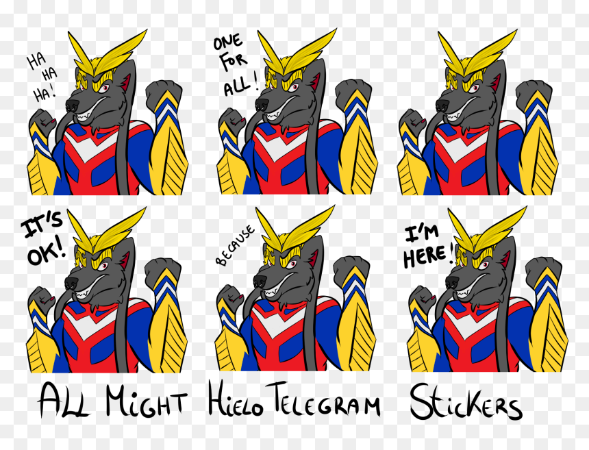 All Might Hielotelegram Stickers - All Might Telegram Stickers, HD Png Download