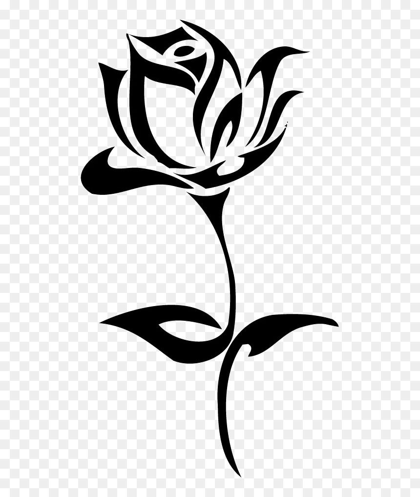Tatuaje Rosa - Black And White Rose Png, Transparent Png