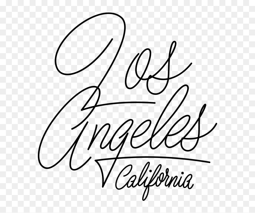 Los Angeles Typography Png, Transparent Png