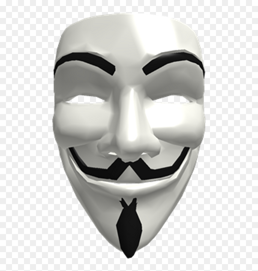 Anonymous Mask Png - Roblox Hacker Mask Png, Transparent Png
