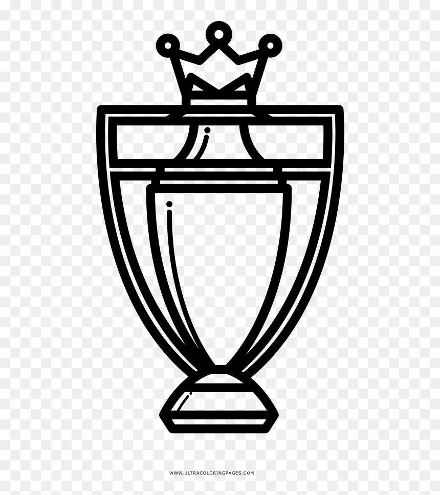 Premier League Trophy Coloring Page Premier League Trophy Icon Hd Png Download 487x888 Png Dlf Pt
