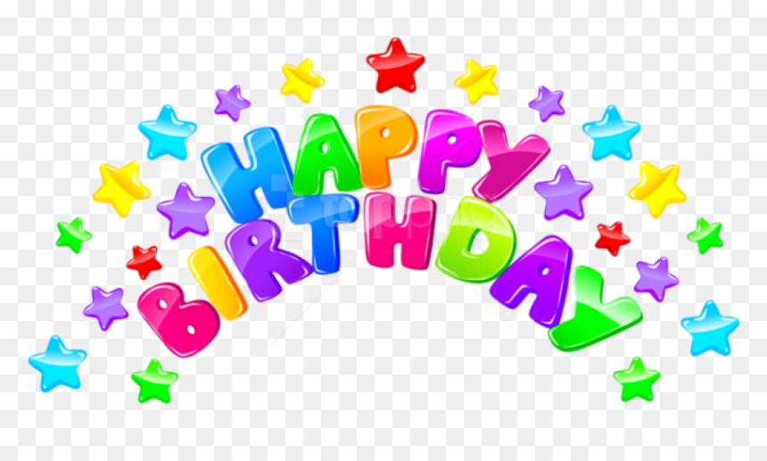 Free Png Download Happy Birthday Decor With Stars Png - Transparent Happy Birthday Png, Png Download